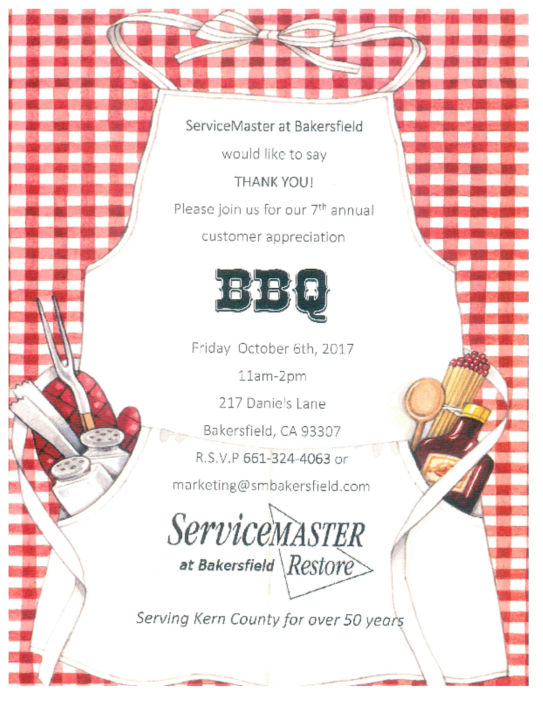 Join IPAK and Service Master for a Customer Appreciation BBQ